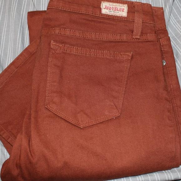 Judy Blue Denim - Judy Blue Burnt Orange skinny stretch jeans